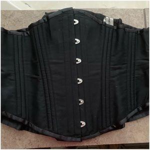 "Black ""Camellias"" Corset - Waist Shape-Wear. 3XL"